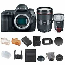 Canon EOS 5D Mark IV Body 24-105mm IS II USM Lens + Speedlite 600EX II-RT Flash