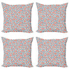 Ambesonne Vintage Details Cushion Cover Set of 4 for Couch and Bed in 4 Sizes