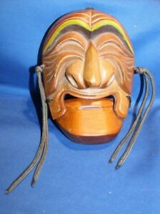 Wooden Korean Mask with Moveable Jaw
