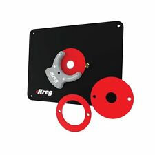Kreg PRS4034 Router Table Insert Plate w/ Level-Loc Rings - Predrilled Triton