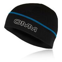 OMM Unisex Meridian Beanie- Black Sports Running Breathable Lightweight