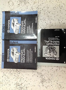 2001 Toyota RAV4 Rav 4 RAV4 Service Shop Repair Manual SET W TRANSAXLE BOOK FEO