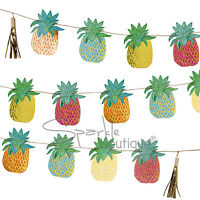 TROPICAL PINEAPPLE BUNTING - Hawaiian Summer Party/BBQ/Luau Decoration/Garland