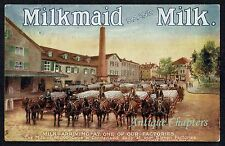 1904 Anglo-Swiss Condensed Milk Co Milkmaid Milk Advertising Postcard B175