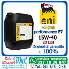 Olio Motore eni i-Sigma performance E7 15W-40 20 Litri - Originalità garantita