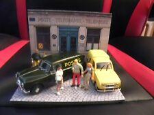 Diorama Voitures Miniatures 1/43 Agence PTT/Poste France (unique)