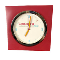 LEXAPRO Red Square Plastic Wall Clock Battery Operated Pharmacy Giveaway Advert