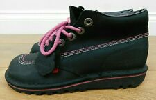 Kickers Black & Pink High Top Boots UK Size 5 EUR 38