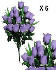 """Lot of 6 Lavender Rosebud 23"""" Flowering Bushes Wedding Home Decor Silk Flower"""