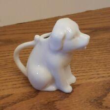 Small Labrador Retriever Dog Coffee/Tea Creamer Container White Porcelain