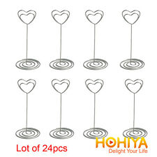 24 Crystal Heart Place Card Name Holders Table Number Decoration Wedding Favors