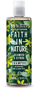 Faith in Nature Algues & Shampoing Citrus 400ml - Végétalien - sans Paraben