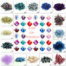 Wholesale100- 500pcs Rondelle Faceted Crystal Glass Loose Spacer Beads 4mm/6mm
