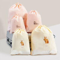 Travel Drawstring Storage Bag Clothes Shoes Makeup Cosmetic Organizer Pouch