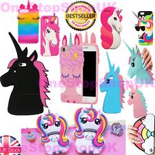 Cartoon Disney Cute Girls Unicorn Soft Dropproof Cover Case For iPhone Samsung