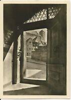 Ansichtskarte Nürnberg - Dürer-Haus - vom Hausflur zur Kaiserburg - schwarz/weiß