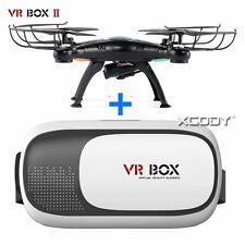 2017 VRBox 3D Glasses Headset Virtual Reality+Bluetooth Control+Quadcopter Drone
