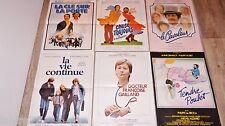 annie girardot  !! lot 6 affiches cinema vintage