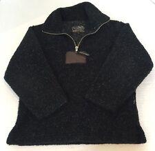Top Spirit Swiss Concept Fleece 1/4 Zip Pullover Sz 116 or 6 Fuzzy Black White