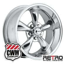 "17 inch 17x7"" / 17x9"" Polished Aluminum Wheels Rims for Chevy Camaro 1967-1981"