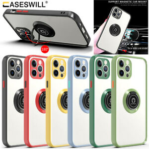 For iPhone 12 Mini 11 Pro XS Max XR SE 8 Plus Case Rugged Clear Ring Stand Cover