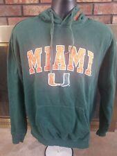 Miami Hurricanes The U Canes NCAA Hooded Hoodie Sweatshirt Mens Size Large Green