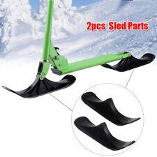 2pcs Ski Toboggan Snow Scooter Sled Parts Outdoor Winter Skiing Grass Sand Boat