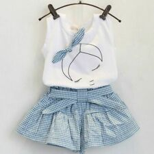 Girls Clothing Sets Cotton Print Short Sleeve T-shirt Shorts Summer Sport Suits