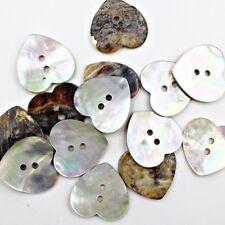 Heart Shape Shell Button Lot 10 36L 23mm Japan Real Pearl Crafts Project Agoya
