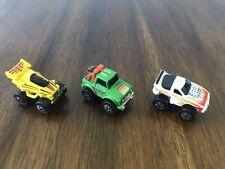 1986 Crash Canyon Game Lot of 3 Racing Vehicles Milton Bradley Authentic