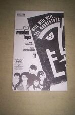 THE WOODEN TOPS FLYER RARE advert mid 80's LOS ANGELES - ROXY THEATRE