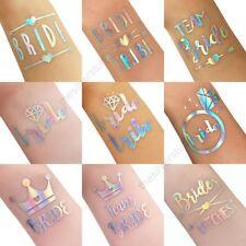 Iridescent Rainbow Holographic Tattoo Team Bride Tribe Hen Do Party Wedding