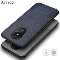 For Motorola Moto G7 Supra /G7 Power Fabric Canvas Cloth Leather Soft Case Cover
