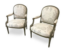 Pair of French Antique Painted Arm Chairs