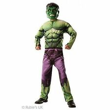 Marvel Avengers Assemble Incredible Hulk Kids Costume Classic No Muscles 3-8 Yrs 3 - 4 Years 888911