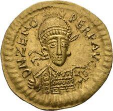 LANZ OSTGOTEN ITALIEN SOLIDUS THEODERICH DER GROßE 493-526 GOLD RRR ZENO ½TEZ486