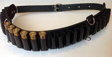 Leather Shotgun Shell Cartridge Belt Holder Bandolier - Holds 24 shells 12ga