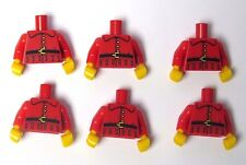 Lego 6 Torso Body For Minifigure Figure Red Jacket Belt Xmas Elf Gnome