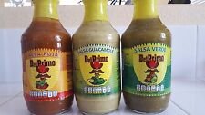 Del Primo hot sauce, Red ,Green and Guacamole 3 bottles
