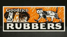 """Dollhouse Miniatures Metal Sign Advertising Goodrich Rubbers Cat 3"""" x 1 1/4"""""""