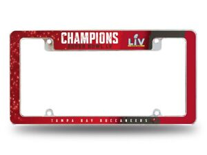 Tampa Bay Buccaneers 2020-2021 Super Bowl LV Champions Red Chrome License Frame