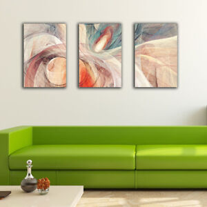 3 70×100×3cm Abstract Color Line Canvas Prints Framed Wall Art Home Decor Gift