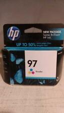 GENUINE HP 97 C9363WN Tri-Color Ink Cartridge Dated 2011 New Sealed