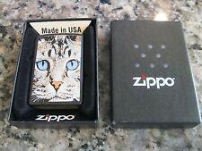 Zippo Lighter 2011 Cat Face Factory Sealed.   Z-22