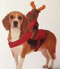 Mypets Christmas Xmas Dog Reindeer Harness Novelty Pet Outfit For Dogs