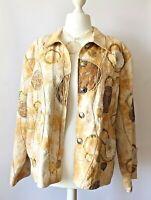INDIGO MOON Boho Jacket 2XL 20 22 Floral Ivory Sequin Unusual festival Artisan