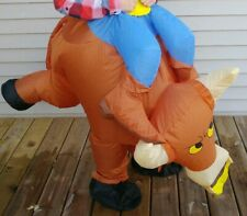 Airblown Inflatable Halloween Costume Adult  One Size Bull Rider Blow Up Suit