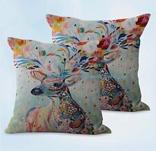 US SELLER, 2pcs animal deer cushion cover decorative throw pillow covers