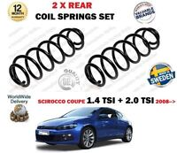 FOR VOLKSWAGEN VW SCIROCCO 1.4 2.0 TSI + DCC 2008-> NEW 2X REAR COIL SPRINGS SET