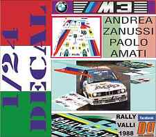 DECAL KIT 1/24 BMW M3 ANDREA ZANUSSI RALLY VALLI 1988 (04)